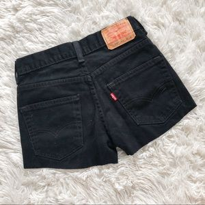 Levi 550 Black Denim Shorts Size 24